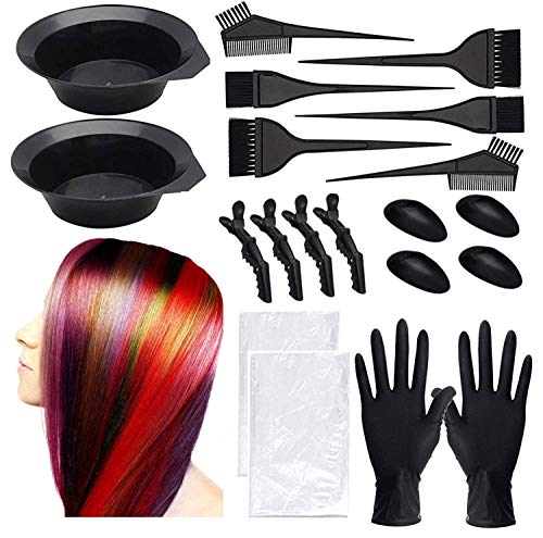 Dee Banna® Hair Dye Kit Hair Dye Coloring DIY Beauty Salon Tool Kit,Disposable hair shawl,Brush...
