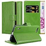 Cadorabo Hülle für Honor 6 Plus - Hülle in Gras GRÜN – Handyhülle im Luxury Design mit Kartenfach & Standfunktion - Case Cover Schutzhülle Etui Tasche Book