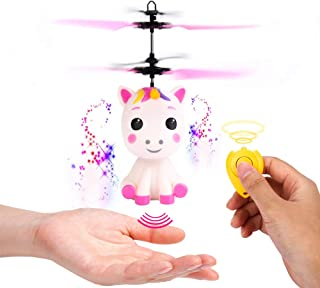 Flying Unicorn Toys Flying Fairy Toys for Girls Flying Ball RC Helicopter with Remote..