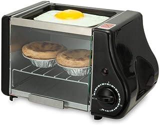 Máquina De PanCafé Eléctrico 3 En 1 Horno Parrilla Pan Tostadora Sandwich Hornear Multicocina Hogar Grill C