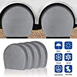 Byredio RV Tire Covers Trailer Spare Wheel Covers Set of 4 for Truck, SUV, Trailer, Camper, RV, Universal Fits Tire Diameters 26-29 Inches