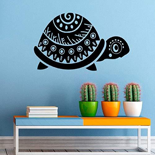 Geiqianjiumai Schildkröte Meerestier Vinyl Wand Applique Badezimmer wasserdicht Aufkleber Dekoration niedlich Kinderzimmer Kunst Aufkleber Dekoration Aufkleber schwarz 42x25cm