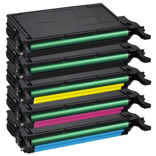 Tito-Express PlatinumSerie 5 Toner-Patronen XXL für Samsung CLP-620 Black Cyan Magenta Yellow CLP-620 CLP-620ND CLP-670 CLP-670N CLP-670ND CLX-6220FX CLX-6250FX kompatibel mit Samsung CLT-5082L