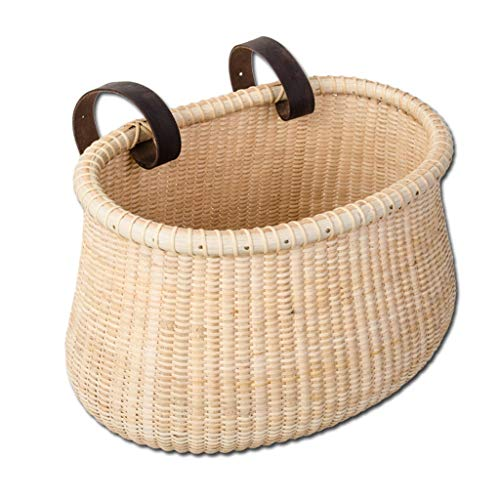 Best Price Front Handle Adult Bicycle Basket-Classic Vintage Style Handmade Natural Woven Rattan Wic...