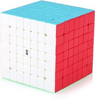 Speed Cube 7x7 7x7x7 Stickerless Magic Puzzle Cube de Vitesse Magique Cadeau de Vacances pour Enfants Adultes (sans Autoco...