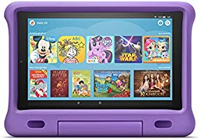 Voll ausgestattetes FireHD10-Tablet (kein Spielzeug) mit kindgerechter Hülle, Kindersicherung, 2Jahren...