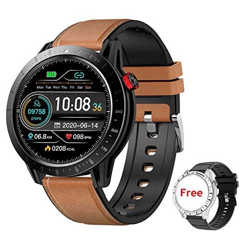 Voigoo Smartwatch Orologio Fitness Tracker Impermeabile 3ATM Smart Watch Touch Rotondo Cardiofrequenzimetro da Polso Contapassi Activity Tracker con Cronometro Notifiche Messaggi per Android iOS