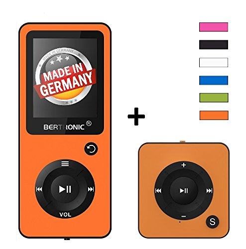 BERTRONIC Royal BC02 und BC05 MP3-Player Bis 100 Stunden Wiedergabe Farbdisplay Radio | Portabler Player | Audio-Player für Sport mit Micro SD-Kartenslot