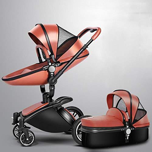 Olydmsky Carro Bebe,Recién Nacido Cochecito Alta Vista suspensión Puede reclinada del Cochecito de bebé Plegable rotativa