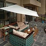 Toldos CJC Tela De La Sombra del Sol Protector Solar Planta Transpirable Patio Trasero Al Aire Libre Multiusos (Color : White, Size : 1.5x2m)