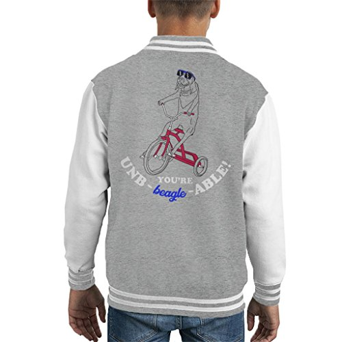 Cloud City 7 Onbearable Beagle on Tricycle Kid's Varsity Jacket