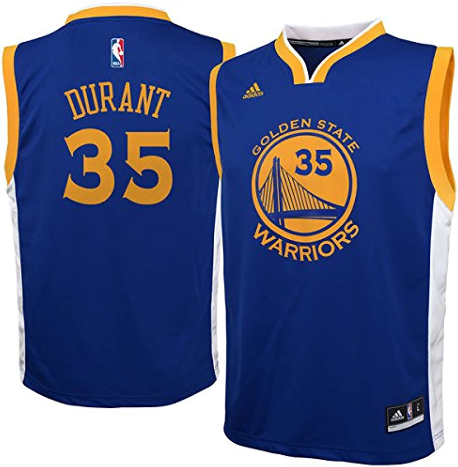sports shoes e5857 7ce75 State golden Durant Kevin NBA Warriors Jersey bluee Replica ...