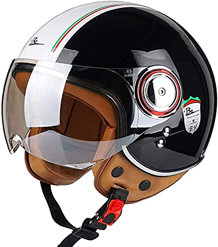 3/4 Casco Moto Hombre - Casco Moto Abierto con Visera - Baratos...