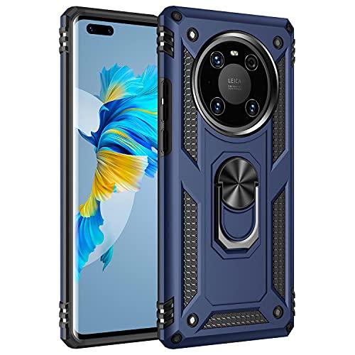 Wkvnk für Huawei Mate 40 Pro Hülle, Huawei Mate 40 Pro Hülle Stoßfest Handyhülle Anti-Kratzer Mit Ständer Schutzhülle für Huawei Mate 40 Pro (Blau)