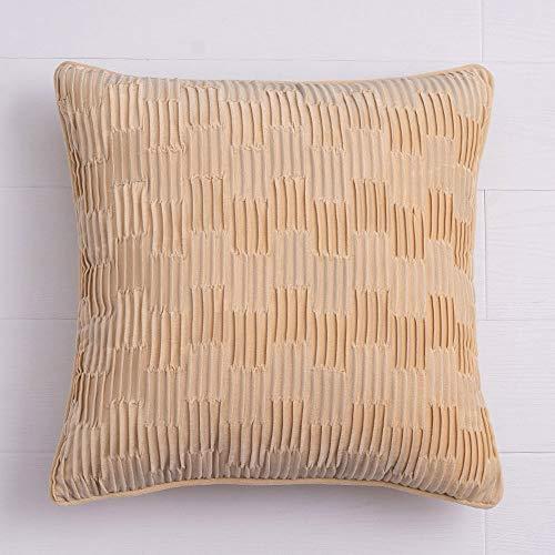 YAHE Cojines para sofá,Cojines para sofá Grises,cojín de sofá nórdico Almohada de salón Almohada de Terciopelo de Color sólido,Almohada extraíble de 50 * 50 cm con Cremallera Invisible