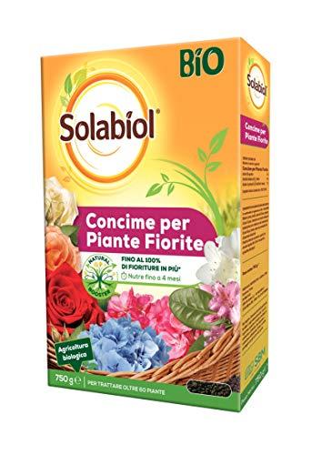 Solabiol Concime granulare Biologico per Piante Fiorite, 750 gr