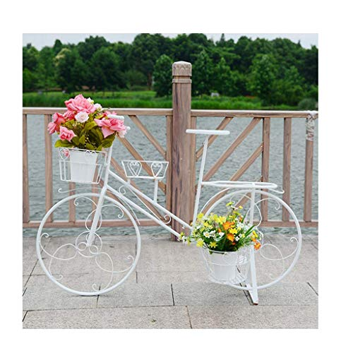 FGDSA Estante de Metal para Carrito de Flores árbol de jardín decoración del hogar Soporte de exhibición de Plantas de Patio Patio de Flores balcón terraza césped Interior Exterior macetero 42.5
