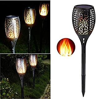Solar Light Flame Outdoor Induction Light Garden You The Ground Light Decorative Landscape Light (Round) Garden Torches Ex...