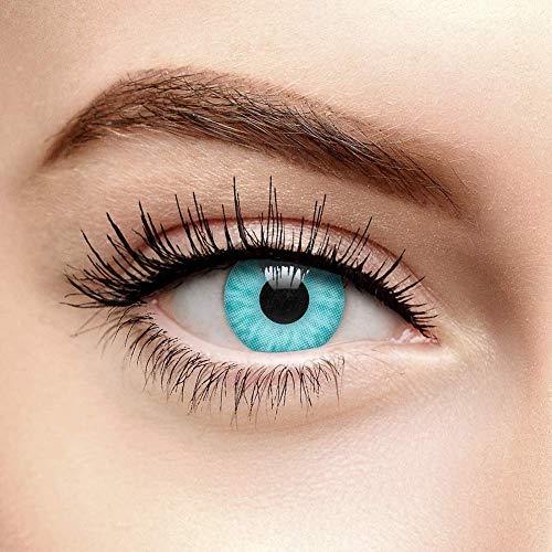 chromaview Ice Walker Farbige Kontaktlinsen Ohne Stärke Aqua Blau Türkis (90 Tage)