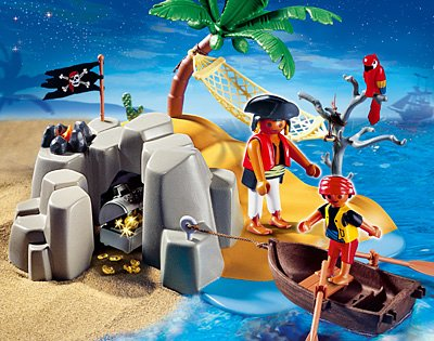 PLAYMOBIL® 4139 - Kompaktset Pirateninsel