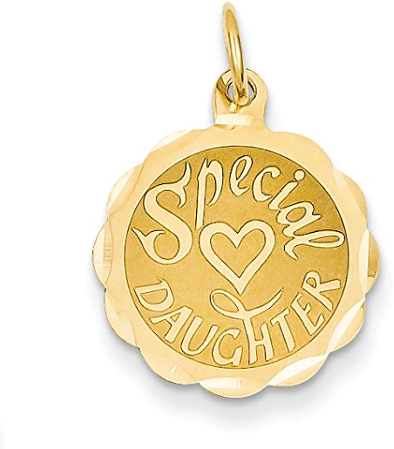 Diamond2Deal 14k Yellow gold Special Daughter Pendant
