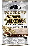 Harina de Avena Sabores Variados - Suplementos Alimentación y Suplementos Deportivos - Vitobest (Brownie, 1 Kg)