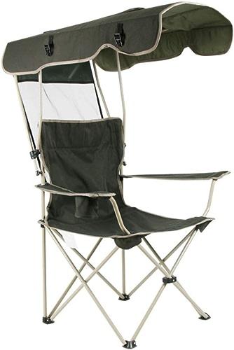 Le Chaise de Camping Pliante extérieure avec Pare-Soleil, Prougeection Solaire Portable   Heavy Duty Chaises de Camping avec Porte-gobelet pour   Pêche à la Plage