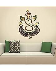 Decals Design 'Modern Elegant Ganesha God' Wall Sticker (PVC Vinyl, 50 cm x 70 cm, Multicolour)