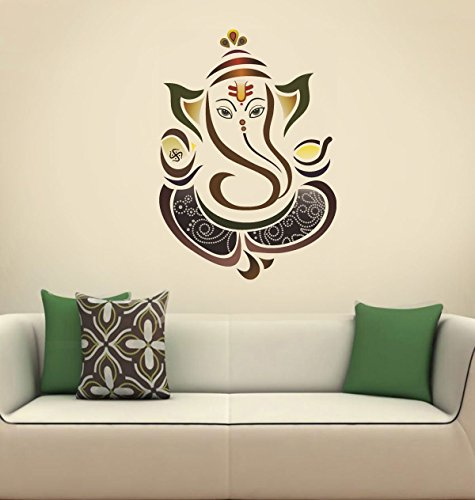 Decals Design Wall Sticker 'Modern Elegant Ganesha God For Pooja Room'