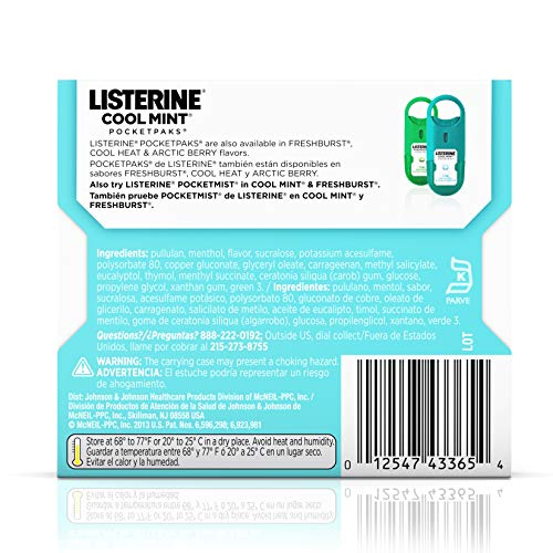 Listerine  Pocketpaks Atem Strips Cool Mint 24 Stück (12er-Pack) - 3