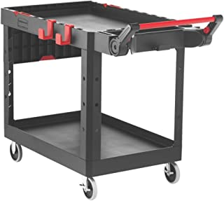 Rubbermaid Commercial Products 1997208 Heavy Duty Adaptable Utility Cart, Black, Medium, 51.47