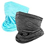 Neck Gaiter, Face Cover Scarf, Ice Silk Cooling Sports Face Scarf,Summer Cool Breathable Lightweight, Ideal for Fishing Hiking Running Cycling(2 Pack)