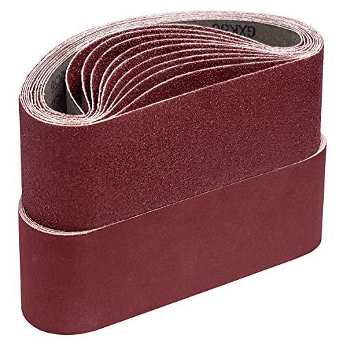 Schleifbänder,75 x 533 mm je 5 x Korn 40/60/80/120/180 für Bandschleifer Schleifpapier Schleifband-Set 25 Stück