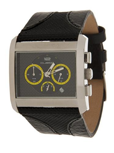 Custo Watches cu005702–Orologio da uomo al quarzo pelle nero