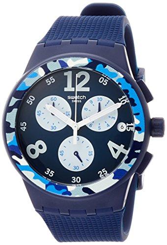 Swatch Orologio Cronografo Quarzo Uomo con Cinturino in Silicone SUSN414