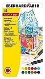 Eberhard Faber Artist Color 516112 - Lápices de colores (estuche de metal con 12 colores, forma hexagonal, para diseños gráficos modernos, dibujos finos y acuarelas de colores fuertes)