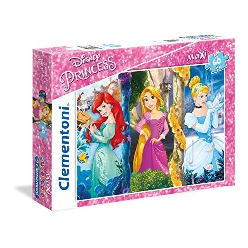 Clementoni Princess disney Supercolor Puzzle Maxi, Multicolore, 60 Pezzi, 26416