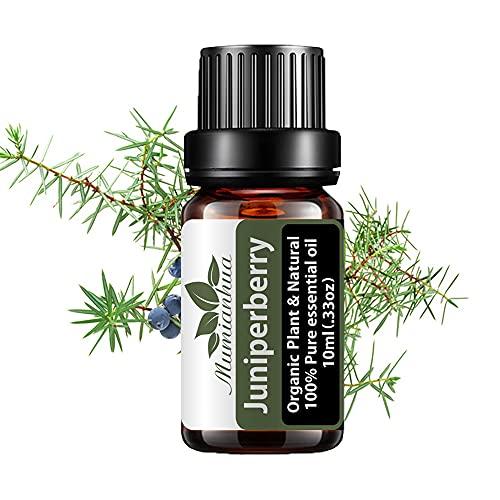 Aceite esencial bayas enebro bio para piel,aceite aromaterapia enebro Aceite fragancia enebro grado terapéutico Mumianhua 10ml Aceites esenciales enebro 100% puro para difusor,hogar,masaje