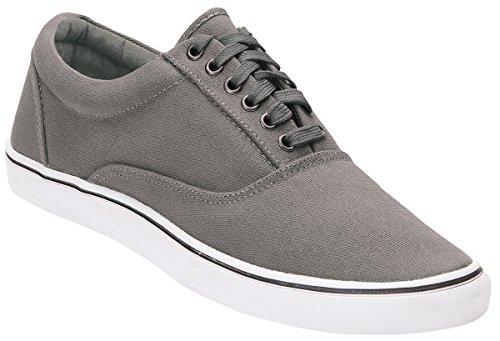 Brandit Sneaker Bayside, Leinenschuh, Unisex, Classic - grau - 46