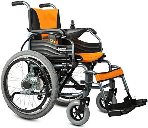 Qianqiusui Elektrische Rollstühle, leicht Faltbare Elektro-Rollstuhl kann mit Lithium-Batterien 20A auf die Ebene und Kreuzfahrt Reise Sein