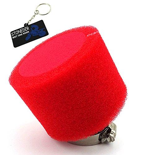 Stoneder, filtro dell aria rosso, 42 mm, per moto cinesi da 125 cc e 140 cc, Pit Dirt Bike, motocross, ATV, ciclomotore, scooter, buggy Go Kart