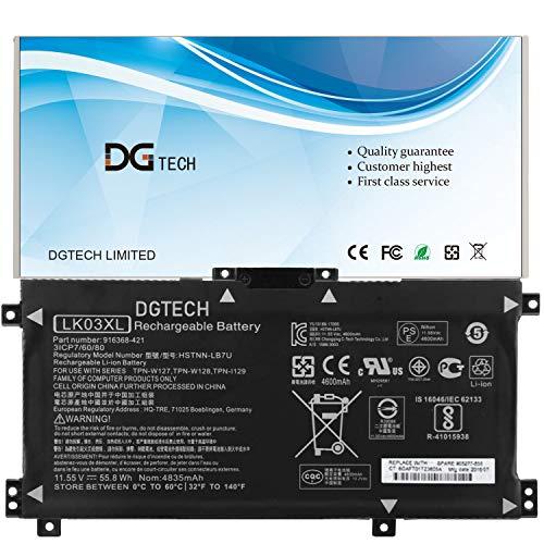 DGTECH LK03XL Laptop Battery Compatible with HP Envy 17-AE143NG 17M-AE0XX Envy X360 15-BP000 15-BP107TX 15M-BP000 15-BP100TX Series 916814-855 HSTNN-IB8M HSTNN-LB7U HSTNN-UB71 HSTNN-UB7I 11.55V 55.8Wh