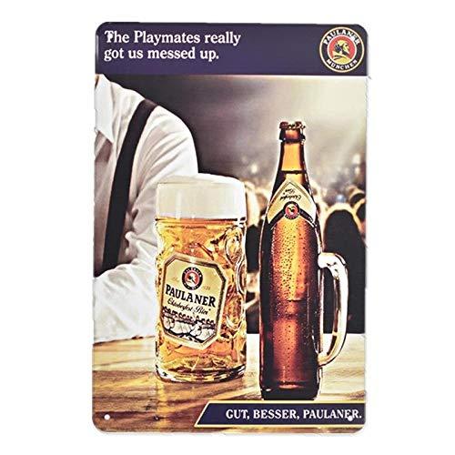 qnmbdgm Retro eiskalten Wein Bier Plaque Metall Zinn Zeichen Malerei Poster Vintage Wandkunst Aufkleber Pub Bar Home Decor-GG-1543_20x30cm