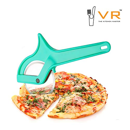 VR Pro Speed C Wheel Pizza Cutter (Cyan, Pack of 1)