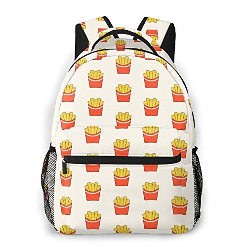 Best Fries Travel Laptop Backpack Purse Waterproof College School Bag for Teens Men Women Casual Daypack Rucksack
