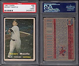 1957 Topps Regular (Baseball) Card# 95 Mickey Mantle (psa) of the New York Yankees Fair Condition