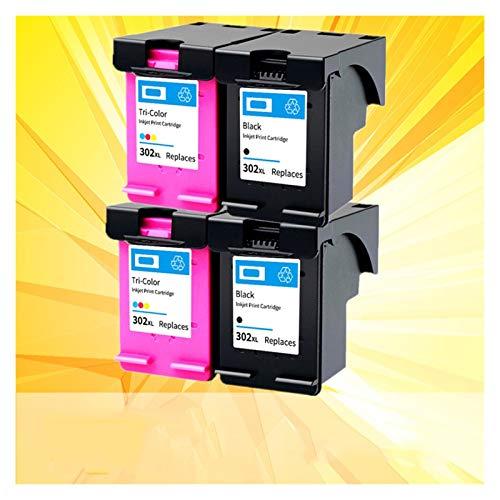 CMDZSW Adecuado para Cartuchos de Tinta 302XL Adecuados para 302 XL HP302 HP302XL Cartuchos de Tinta 1110 2130 1112 3630 4520 4250 3830 5220 5230 5232 Impresora (Color : 1 Pack Black)