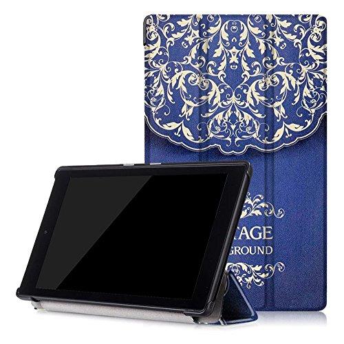 skytar nuevo Fire HD 8Caso, Tablet Cover para Amazon Fire HD82016, Ultra Slim piel sintética Flio Case Stand Cover Para Nuevo Amazon Fire HD 8(6ª generación–2015Release) Tablet