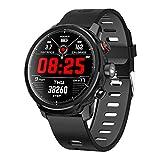 Padgene Smartwatch Reloj Inteligente Impermeable IP68 con Múltiples Modos de Deportes, Fitness Tracker, Monitor de Dormir, Notificación de Llamada y Mensaje para Android e iOS (Negro)