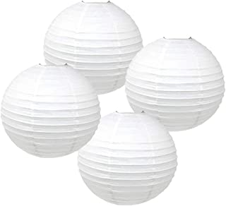 Just Artifacts 20-Inch White Paper Lanterns (Set of 4) - Click for More Chinese/Japanese Paper Lantern Colors & Sizes!